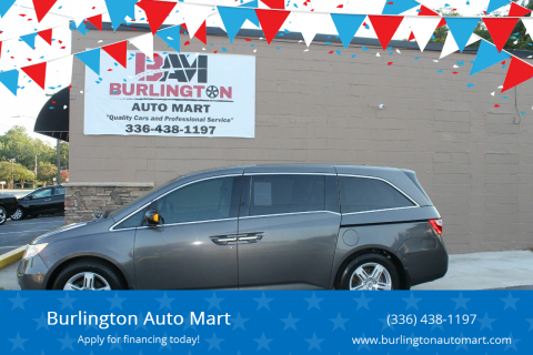 2012 Honda Odyssey for sale at Burlington Auto Mart in Burlington NC
