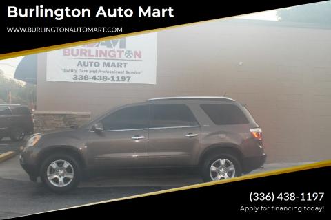 2009 GMC Acadia for sale at Burlington Auto Mart in Burlington NC