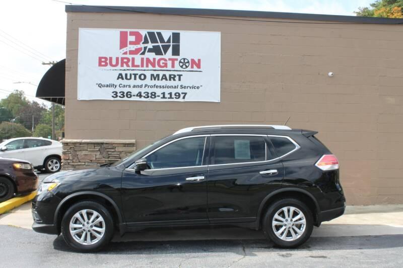 2015 Nissan Rogue for sale at Burlington Auto Mart in Burlington NC