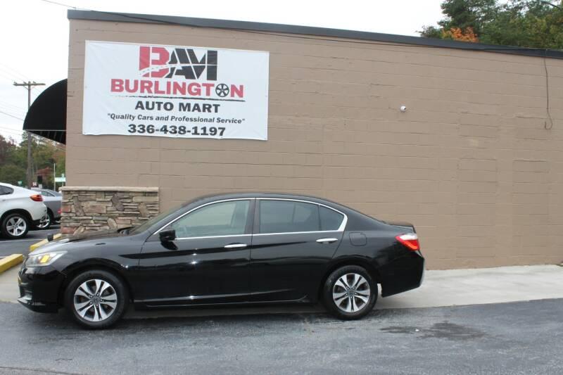 2013 Honda Accord for sale at Burlington Auto Mart in Burlington NC