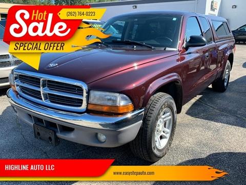 2004 Dodge Dakota for sale at HIGHLINE AUTO LLC in Kenosha WI