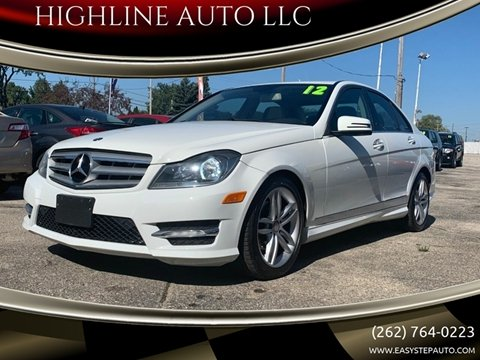 2012 Mercedes-Benz C-Class for sale at HIGHLINE AUTO LLC in Kenosha WI