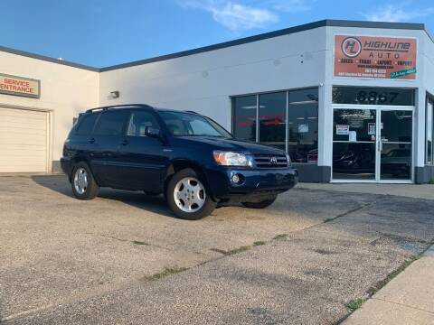 2004 Toyota Highlander for sale at HIGHLINE AUTO LLC in Kenosha WI