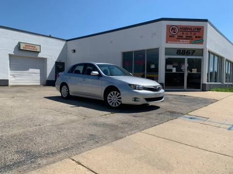 2010 Subaru Impreza for sale at HIGHLINE AUTO LLC in Kenosha WI