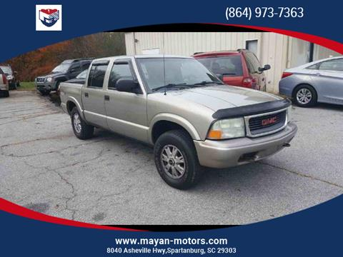 2003 GMC Sonoma for sale in Spartanburg, SC