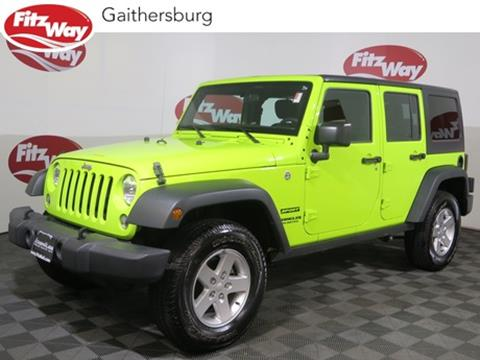 2016 Jeep Wrangler Unlimited for sale in Gaithersburg, MD