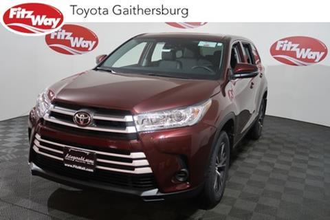 2019 Toyota Highlander for sale in Gaithersburg, MD
