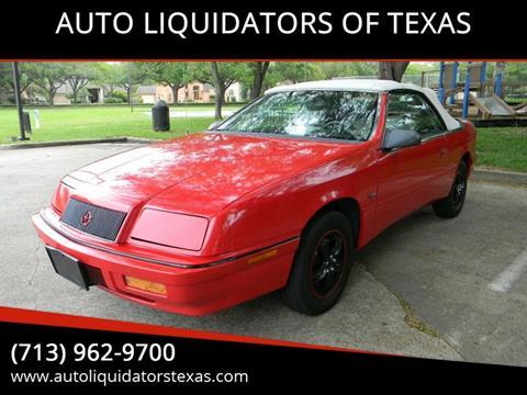 1992 Chrysler Le Baron for sale in Richmond, TX