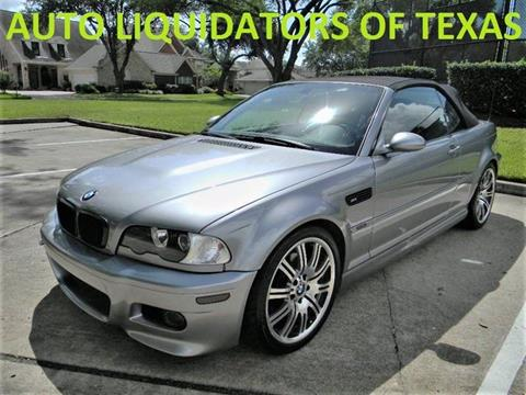 2004 BMW M3 for sale at AUTO LIQUIDATORS OF TEXAS in Richmond TX