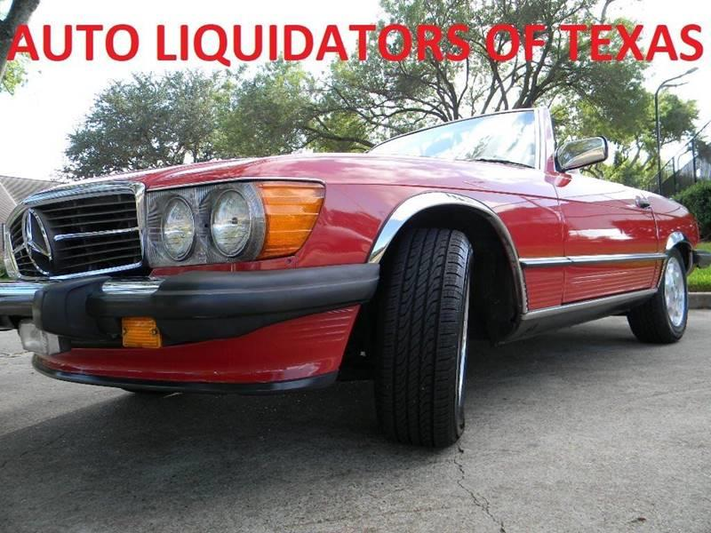 1987 Mercedes-Benz 560-Class for sale at AUTO LIQUIDATORS OF TEXAS in Richmond TX