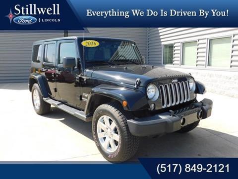 2016 Jeep Wrangler Unlimited for sale in Hillsdale, MI