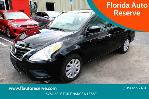 2018 Nissan Versa for sale at Florida Auto Reserve in Medley FL