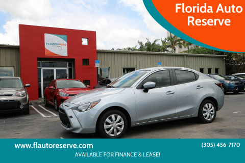 2019 Toyota Yaris for sale at Florida Auto Reserve in Medley FL