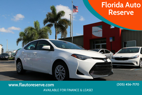 2018 Toyota Corolla for sale at Florida Auto Reserve in Medley FL
