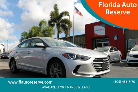 2018 Hyundai Elantra for sale at Florida Auto Reserve in Medley FL