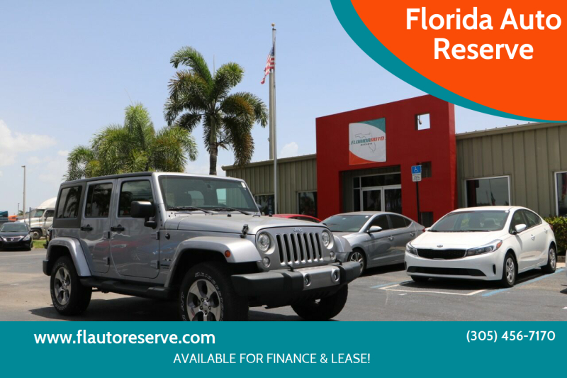 2018 Jeep Wrangler JK Unlimited for sale at Florida Auto Reserve in Medley FL