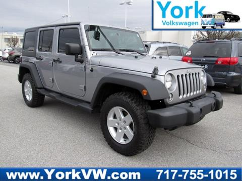 2015 Jeep Wrangler Unlimited for sale in York, PA