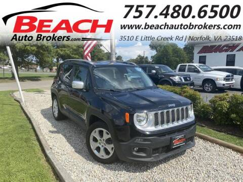 2015 Jeep Renegade for sale at Beach Auto Brokers in Norfolk VA