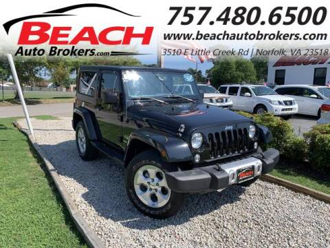 2015 Jeep Wrangler for sale at Beach Auto Brokers in Norfolk VA