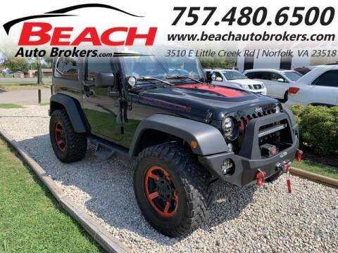 2016 Jeep Wrangler for sale at Beach Auto Brokers in Norfolk VA