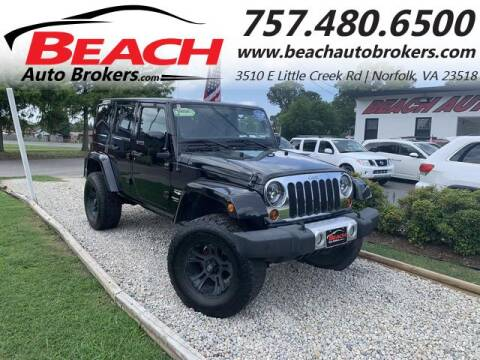 2011 Jeep Wrangler Unlimited for sale at Beach Auto Brokers in Norfolk VA
