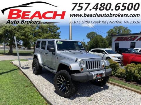 2012 Jeep Wrangler Unlimited for sale at Beach Auto Brokers in Norfolk VA