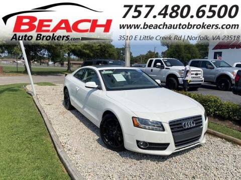 2012 Audi A5 for sale at Beach Auto Brokers in Norfolk VA