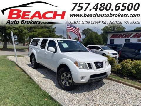 2011 Nissan Frontier for sale at Beach Auto Brokers in Norfolk VA