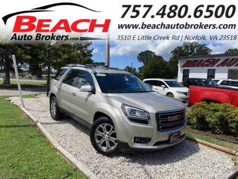 2013 GMC Acadia for sale at Beach Auto Brokers in Norfolk VA