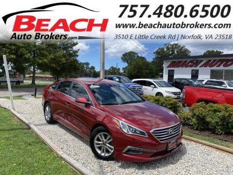 2015 Hyundai Sonata for sale at Beach Auto Brokers in Norfolk VA
