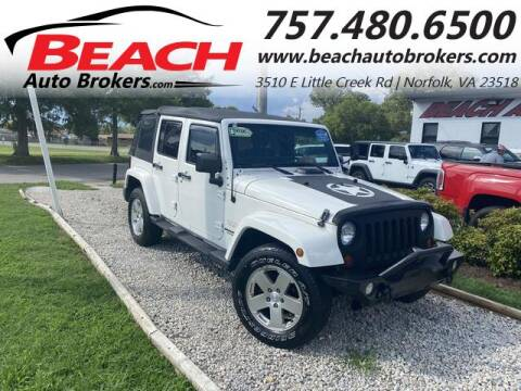 2010 Jeep Wrangler Unlimited for sale at Beach Auto Brokers in Norfolk VA