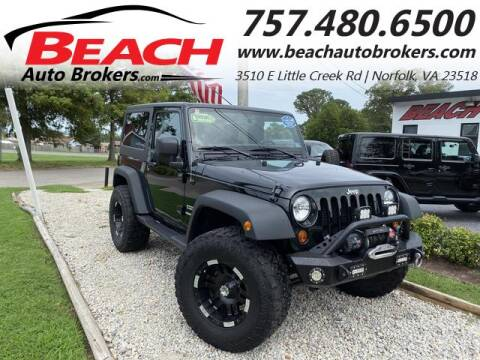 2012 Jeep Wrangler for sale at Beach Auto Brokers in Norfolk VA