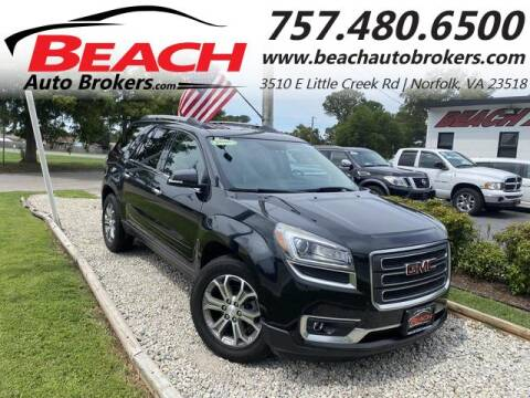2014 GMC Acadia for sale at Beach Auto Brokers in Norfolk VA