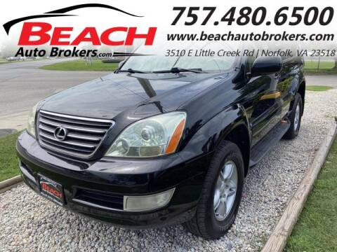2003 Lexus GX 470 for sale at Beach Auto Brokers in Norfolk VA