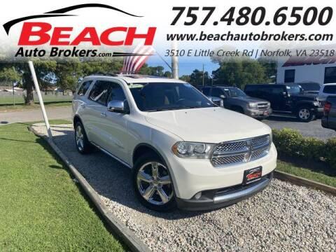 2011 Dodge Durango for sale at Beach Auto Brokers in Norfolk VA