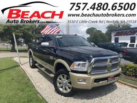 2014 RAM Ram Pickup 3500 for sale at Beach Auto Brokers in Norfolk VA