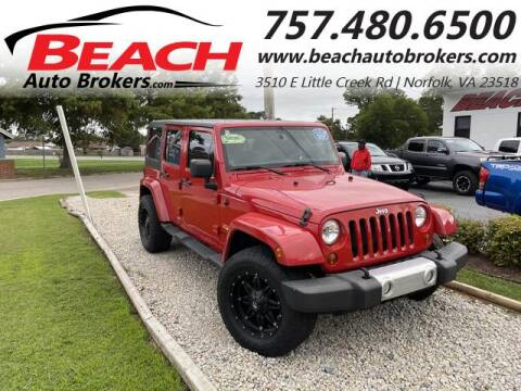 2013 Jeep Wrangler Unlimited for sale at Beach Auto Brokers in Norfolk VA