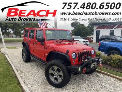 2016 Jeep Wrangler Unlimited for sale at Beach Auto Brokers in Norfolk VA