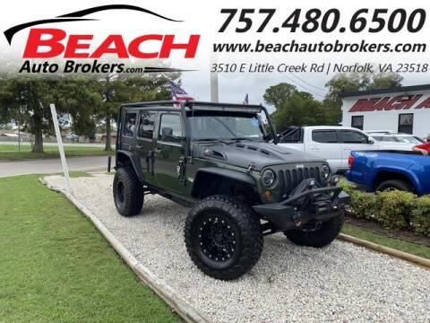 2008 Jeep Wrangler Unlimited for sale at Beach Auto Brokers in Norfolk VA