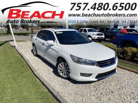 2013 Honda Accord for sale at Beach Auto Brokers in Norfolk VA