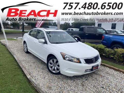 2008 Honda Accord for sale at Beach Auto Brokers in Norfolk VA