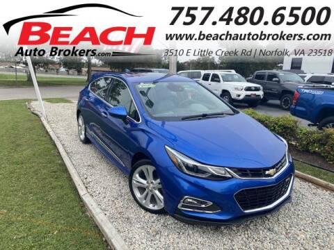 2017 Chevrolet Cruze for sale at Beach Auto Brokers in Norfolk VA
