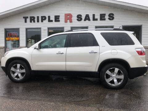2011 GMC Acadia SLT-1 for sale at Triple R Sales in Lake City MN