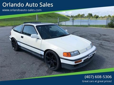 1990 Honda Civic Crx For Sale In Orlando Fl