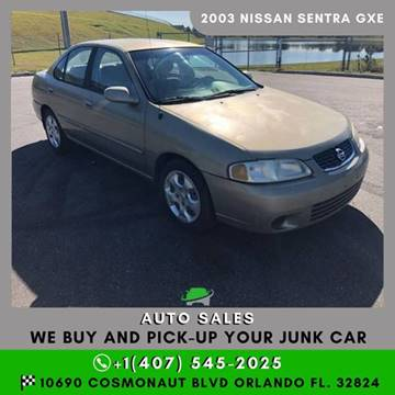 2003 Nissan Sentra for sale in Orlando, FL