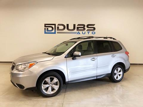 2015 Subaru Forester for sale at DUBS AUTO LLC in Clearfield UT