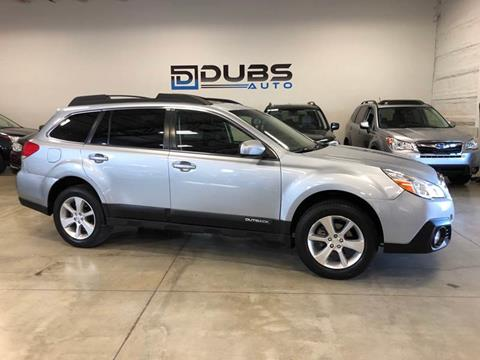 2013 Subaru Outback for sale at DUBS AUTO LLC in Clearfield UT