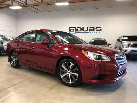2015 Subaru Legacy for sale at DUBS AUTO LLC in Clearfield UT
