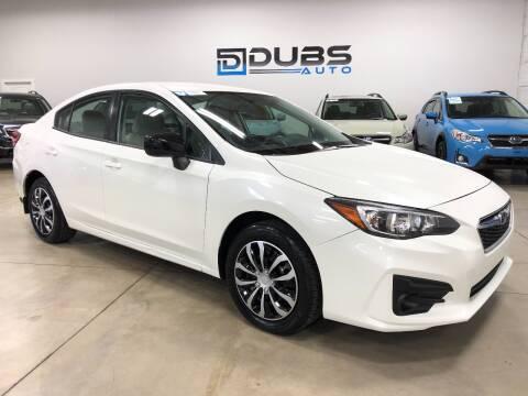 2018 Subaru Impreza for sale at DUBS AUTO LLC in Clearfield UT