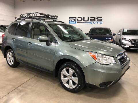 2016 Subaru Forester for sale at DUBS AUTO LLC in Clearfield UT